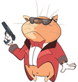 Cute Cat Secret Agent Cartoon vector image vector image