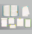 diary and message notes vector image vector image