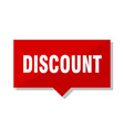 discount red tag vector image vector image