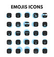 emojis icons set vector image