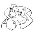 family with baby father and mother hug vector image