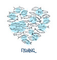 fish banner seafood vector image vector image