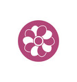 flower breast cancer awareness icon vector image