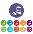 foot in plaster icon simple style vector image vector image