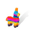funny colorful character pinata vector image