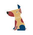 funny spotted multicolored dog symbol of the vector image vector image