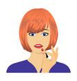 girl single icon in cartoon stylegirl vector image