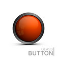glass button on white background vector image vector image