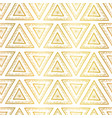 gold foil triangles seamless background vector image vector image