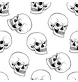 graphic skull with fearful smile vector image vector image
