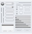 gray interface buttons vector image vector image