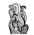 hand drawn wave abstract outline ornamental vector image vector image