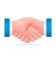 handshake icon partnership shake hands good vector image