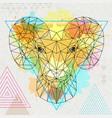 hipster polygonal animal ram or mouflon vector image vector image