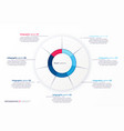 infographic round chart template vector image vector image