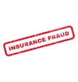 Insurance Fraud Text Rubber Stamp vector image