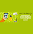 internet of things banner horizontal concept vector image