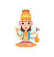 kali indian goddes supports the world order vector image