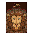 lion ornamental card design vector image vector image