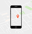 location search on phone screen vector image