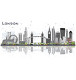 london england city skyline with gray buildings vector image vector image