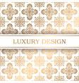 luxury pattern vector image