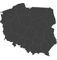 map of poland split into regions vector image vector image