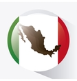 Mexico culture icons in flat design style vector image vector image