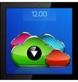 Mobile cloud connection application concept vector image vector image