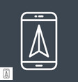 mobile gps navigation line icon vector image vector image