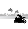 motorcycle race vector image vector image