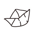 paper boat doodle vector image