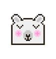 pixel bear vector image vector image