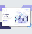 premium hosting concept vector image vector image