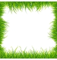 Realistic Square Green Grass Frame vector image