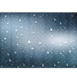 realistic water droplets on transparent window vector image vector image