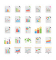reports and diagrams flat icons vector image