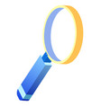 research loupe symbol for digital marketing vector image vector image
