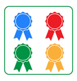 Ribbon award icons set 2 vector image