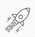 rocket thin line start up project icon vector image