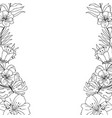 rustic branches with exotic flowers and leaves vector image vector image
