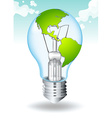 Save energy with earth and light vector image vector image