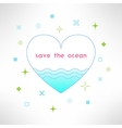 save the ocean background in modern flat vector image vector image