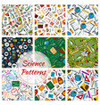 science research and education seamless patterns vector image vector image