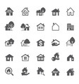 set grey house icon real estate outline vector image