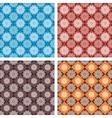 set seamless geometric pattern vector image vector image