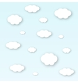 shape of white clouds with shadows vector image vector image