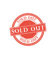Sold out stamp vector image