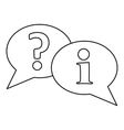Speech bubbles icon outline style vector image vector image