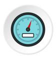 speedometer icon circle vector image vector image